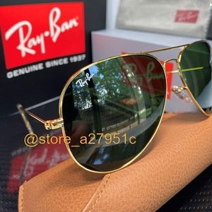 Ray-Ban Aviator NEW Green G15 Lens Classic Unisex